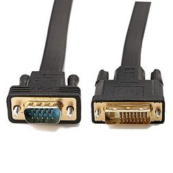 CableDeconn Active DVI-D Dual Link 24+1 Male to VGA Male Vid
