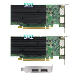 Lot of 2 nVidia Quadro NVS 295 256MB DDR3 PCIe Video Graphic